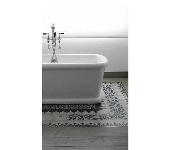 La d co salle de bain en carreaux de ciment c 39 est chouette for La redoute tapis salle de bain