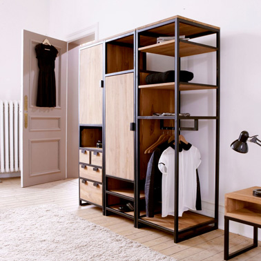 dressing pas cher pour un rangement d co dans la chambre. Black Bedroom Furniture Sets. Home Design Ideas