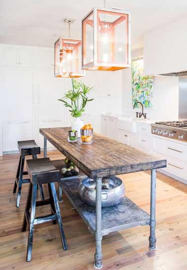 Déco Cuisine Avec Un Coin Repas Malin - Table bar pour petite cuisine pour idees de deco de cuisine