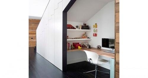 am nager un bureau pratique et d co dans un petit espace. Black Bedroom Furniture Sets. Home Design Ideas