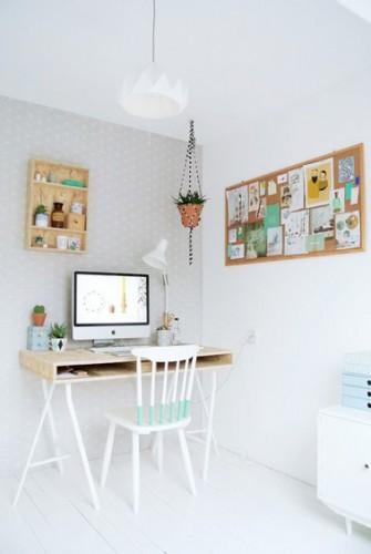 Le coin bureau se fait sa place dans la chambre for Coin bureau petit espace