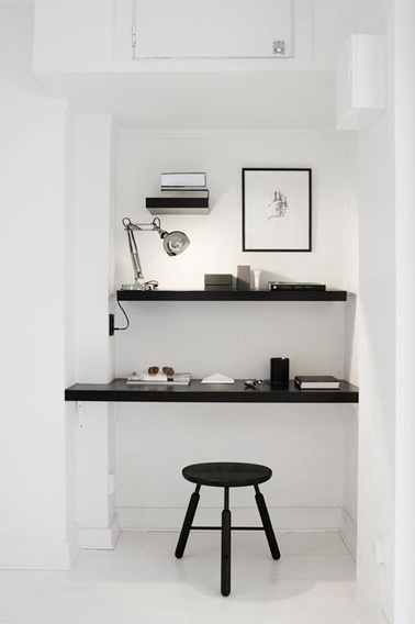 L 39 am nagement d 39 un bureau design dans un recoin - Amenagement d un bureau ...
