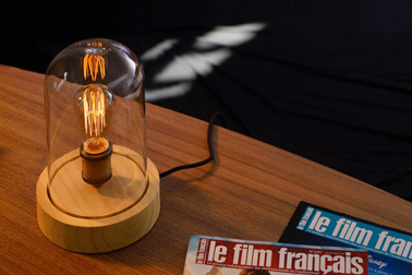 Une ampoule vintage sous cloche