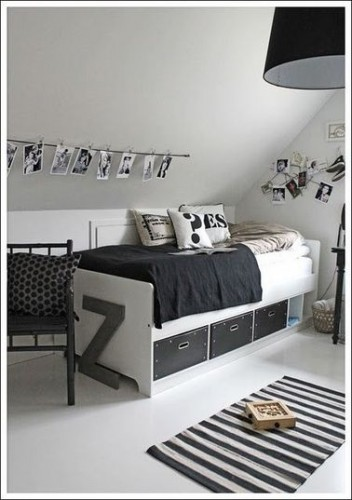 une chambre ado fille qui optimise le rangement. Black Bedroom Furniture Sets. Home Design Ideas