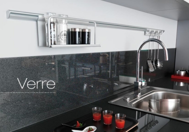 cr dence verre ou inox 13 mod les d co pour la cuisine. Black Bedroom Furniture Sets. Home Design Ideas
