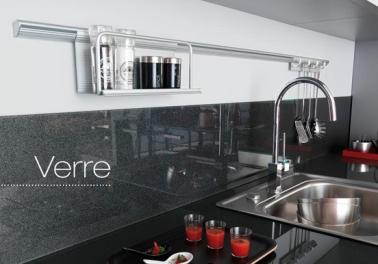 Cr dence verre ou inox 13 mod les d co pour la cuisine - Credence decorative cuisine ...
