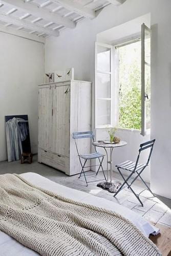 Une d co chambre blanche romantique - Deco chambre blanche ...