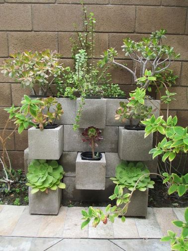 7 id es d co jardin r alis es avec des parpaings for Deco jardines pequenos