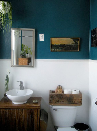 Decoration Toilettes Bleu Canard