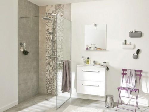 Douche italienne avec receveur de douche extra plat - Petite salle de bain douche italienne ...