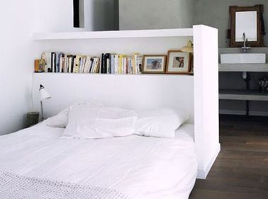 fabrication d une t te de lit avec rangement. Black Bedroom Furniture Sets. Home Design Ideas