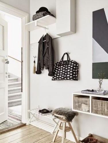un hall d entr e la d co scandinave. Black Bedroom Furniture Sets. Home Design Ideas