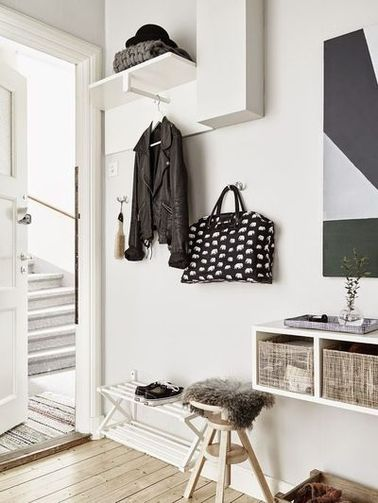 Un hall d entr e la d co scandinave - Idee deco hall d entree maison ...