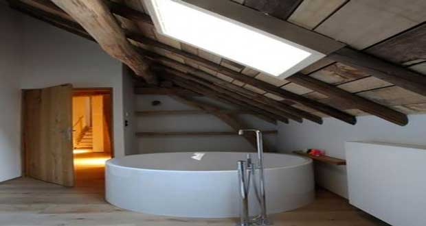 D coration salle de bain sous comble for Idee d amenagement de combles