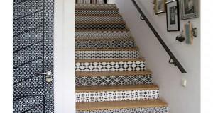 Relookez votre vieil escalier avec des astuces et des idées originales trouvées sur Pinterest ! Facile à réaliser et pas cher pour une déco escalier topissime
