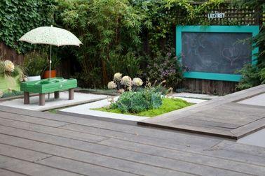 Un jardin zen n'a pas besoin de beaucoup d'espace pour s'exprimer : une haie de bambou, du gravier et du sable blanc vous mettent très vite à l'heure japonaise !