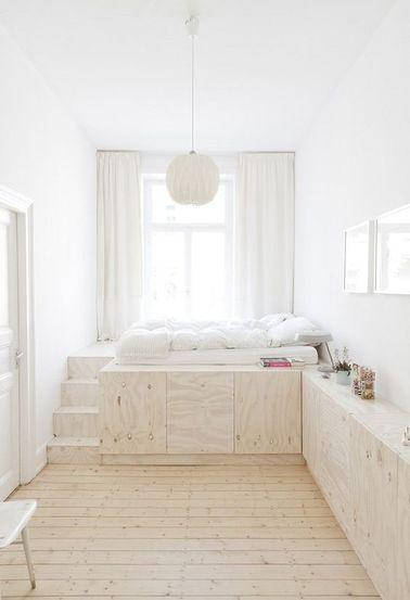 Diy d co lit avec rangement faire avec 3 fois rien - Lit avec rangement pas cher ...