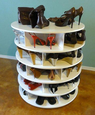 Un meuble chaussures en tourniquet faire soi m me for Fabriquer meuble chaussure