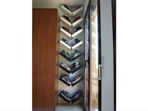 Des mini tag res ikea pour un rangement chaussures astucieux - Ikea etagere chaussures ...