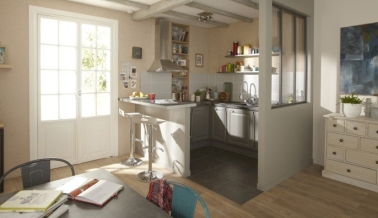 une peinture grise sp ciale cuisine pour les meubles. Black Bedroom Furniture Sets. Home Design Ideas