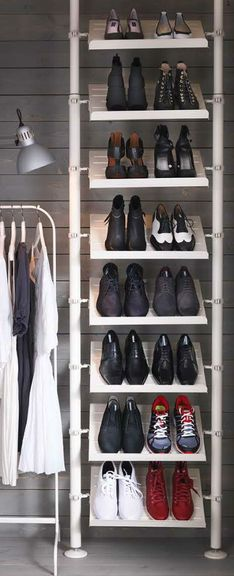 un rangement chaussures ikea int grer une penderie. Black Bedroom Furniture Sets. Home Design Ideas
