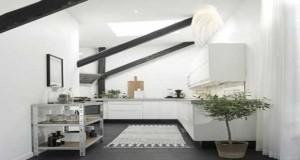 Une cuisine ouverte avec une verri re de s paration - Amenagement cuisine castorama ...