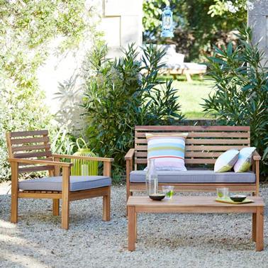Des meubles d co pour l 39 am nagement de sa terrasse for Petit salon de jardin castorama