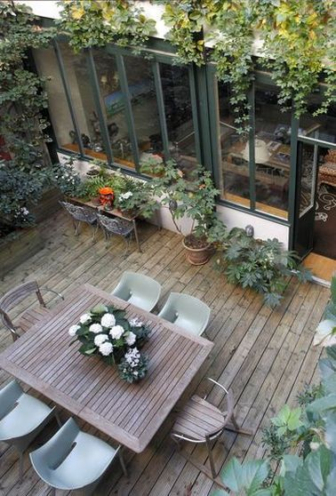 7 d co terrasses am nag es avec de la verdure for Pinterest cuisine de jardin