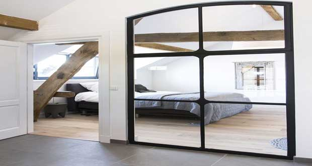 diy d co une verri re int rieure styl e en miroir. Black Bedroom Furniture Sets. Home Design Ideas
