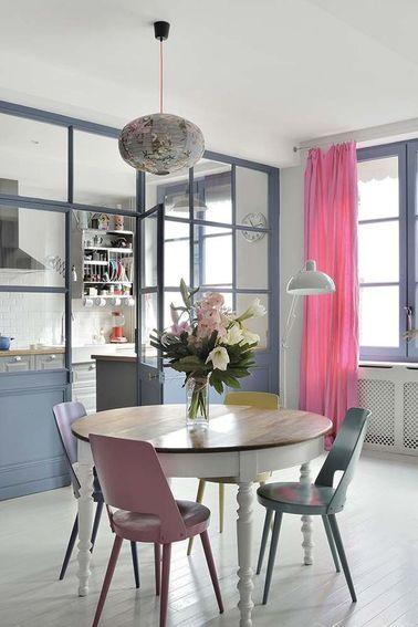 La verri re int rieure se fait d co dans la cuisine for Decoration d une table de salle a manger