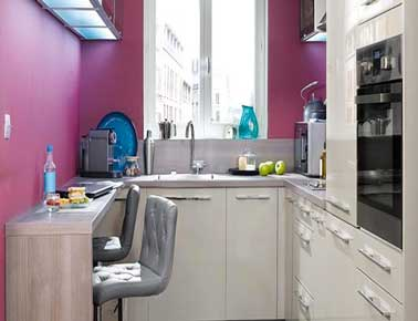 Astuces d co pour agrandir une petite cuisine deco cool for Plan de travail pour petite cuisine