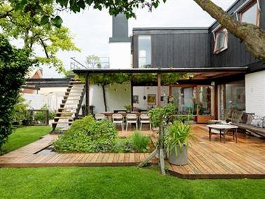 La grande terrasse en bois de la chambre pictures to pin - Amenager une terrasse en bois ...