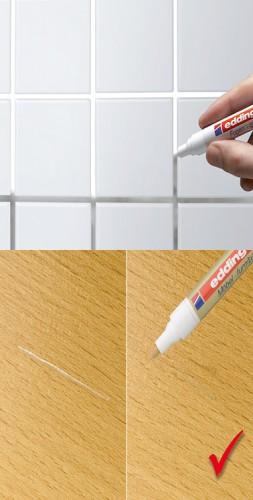 Un stylo peinture pour joints carrelage et rayures sur le bois for Peindre joint carrelage