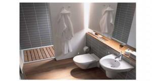 D co salle de bain id e peinture couleur et carrelage salle de bain - Deco pour petite salle de bain ...