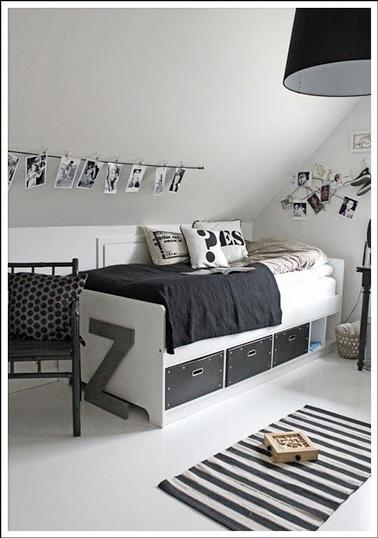 La chambre d 39 ado fille prend de la hauteur deco cool - Chambre avec lit noir ...