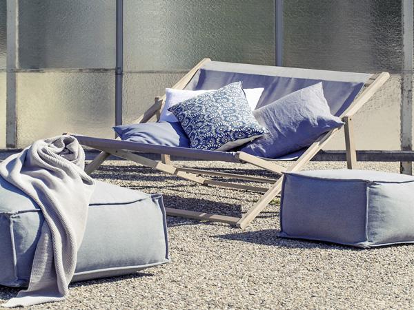Une jolie chilienne pour se prélasser au soleil à l'extérieur et sublimer la déco du jardin