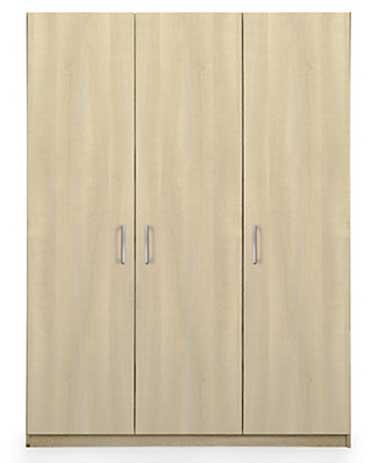 Un dressing de la gamme Meo en panneaux de particule décor chêne clair ou blanc Alinéa