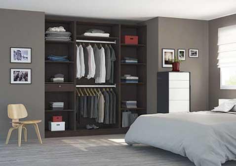 Dressing à aménager sur mesure en mélèze Brun - Largeur 1,80m prix : 726€ Centimètre.com