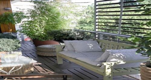 des id es d co pour am nager un balcon sans vis vis. Black Bedroom Furniture Sets. Home Design Ideas
