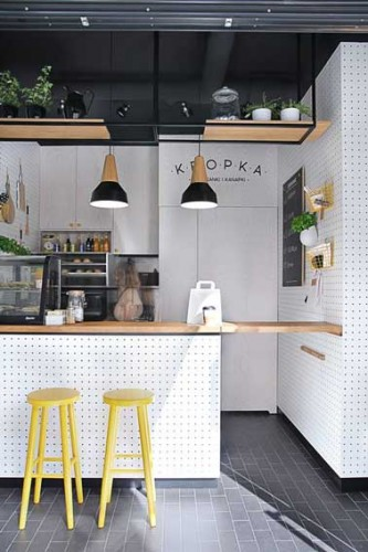 Un lot central d co pour ouvrir une petite cuisine - Astuce deco pour agrandir une piece ...