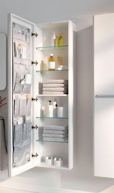 Petite salle de bain d co optimis e avec des rangements - Rangement salle de bain ...