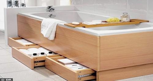 des petites salles de bain avec rangements gain de place. Black Bedroom Furniture Sets. Home Design Ideas