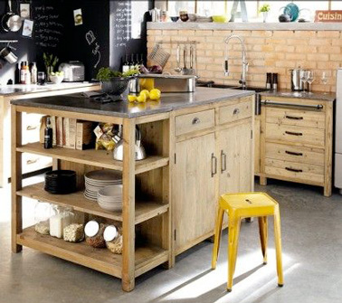 diy d co un ilot de cuisine faire avec 3 fois rien deco cool. Black Bedroom Furniture Sets. Home Design Ideas