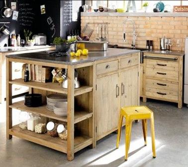 Diy d co un ilot de cuisine faire avec 3 fois rien deco cool - Ilot dans petite cuisine ...