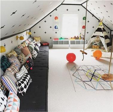 Une salle de jeux idéale pour que les enfants puissent samuser en ...