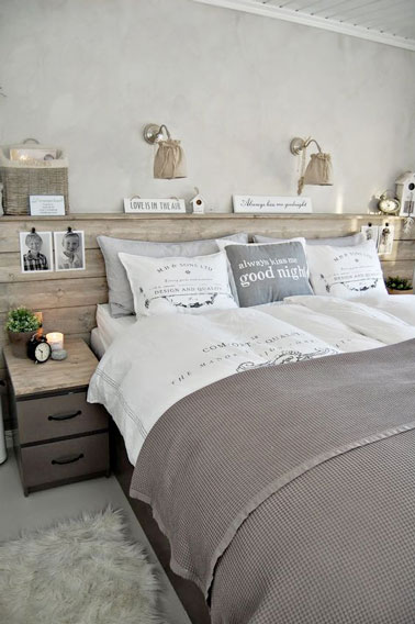 une d co au style scandinave dans une chambre parentale. Black Bedroom Furniture Sets. Home Design Ideas