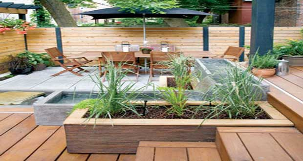 10 id es d co terrasse l 39 am nagement canon for Agencement terrasse jardin