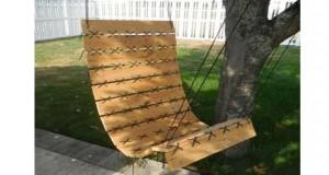 Un fauteuil suspendu, lebon plan détentedans le jardin. Dans la tendance déco palette, voici un DIY de fauteuil suspendu en palette à réaliser soi-même.