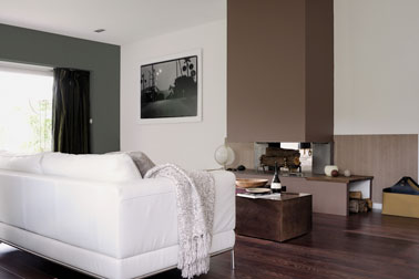 d co taupe et gris anthracite en peinture salon. Black Bedroom Furniture Sets. Home Design Ideas