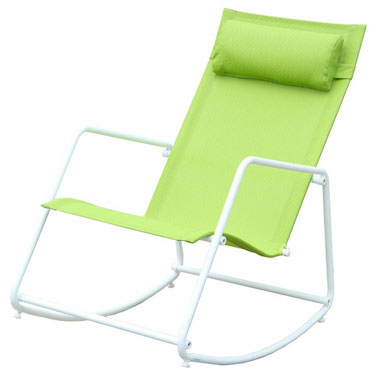 Transat Bain De Soleil Bascule Vert Maxi Confort